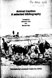 Animal traction A bibliography - usaid