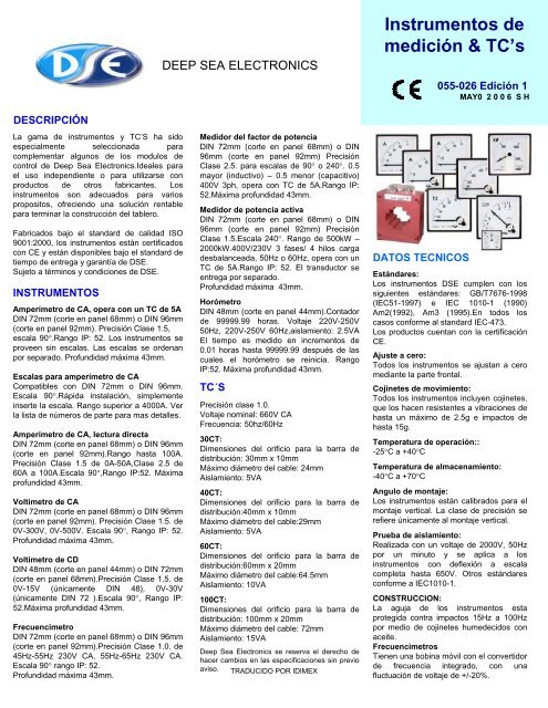 Instrumentos Deep Sea (Ventas).pdf - grupoidimex.com.mx