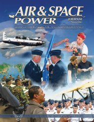 Summer 2007 - Air & Space Power Chronicle - Air Force Link