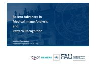 Recent Advances in Medical Image Analysis and Pattern Recognition