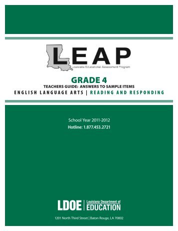 Reading & Responding - Louisiana Department of Education