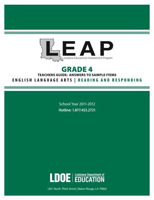 Reading & Responding - Louisiana Department of Education