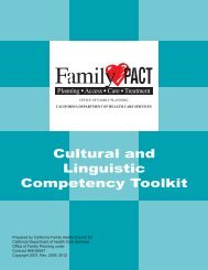 Cultural and Linguistic Competency Toolkit - Family PACT