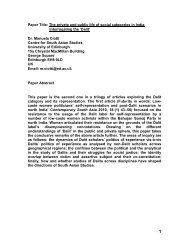 Paper Title: Caste and Democracy: Three ... - Universität Bonn