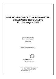 Norsk seniorpolitisk barometer, yrkesaktive 2009 - Senter for ...