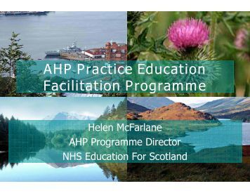 AHP Practice Education Facilitation Programme - BC Academic ...
