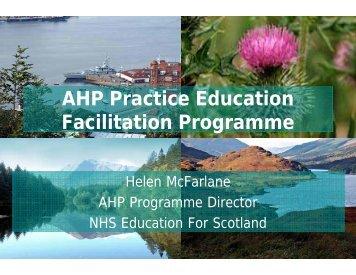 AHP Practice Education Facilitation Programme - BC Academic ...