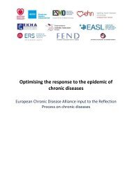 Optimising the response to the epidemic of chronic diseases