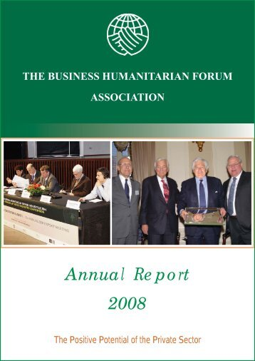 BHF Annual Report for 2008 - Business Humanitarian Forum