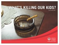what's killing our kids? - Heart and Stroke Foundation of Ontario