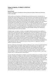 Artigo de Opinião: O VINHO E A POLÍTICA - Ibravin