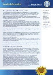 Kundeninformation - Gematria