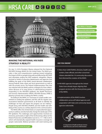 Making the National HIV/AIDS Strategy a Reality - HRSA HIV/AIDS ...