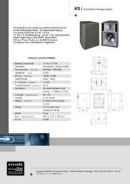 K5 l Hornloaded Fullrange System Horngeladener Hochleistungs ...