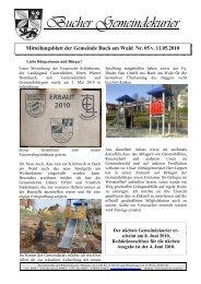 Gemeindekurier 5 v. 11.05.2010 - Buch am Wald