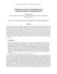 Ethical Issues in the use of Embedded Social Protocols ... - CiteSeerX