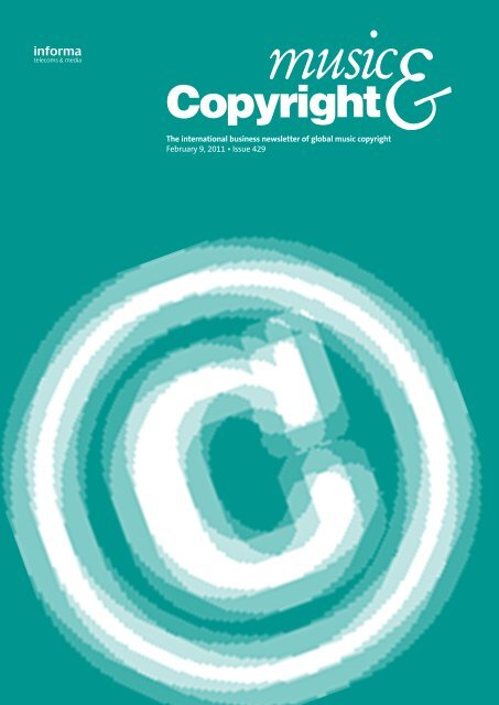 The international business newsletter of global music copyright ...