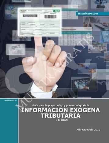INFORMACIÓN EXÓGENA TRIBUTARIA a la DIAN - Error: Debe ...