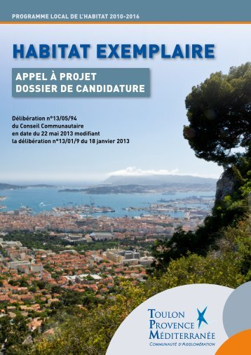 HABITAT EXEMPLAIRE - Communauté d'Agglomération Toulon ...