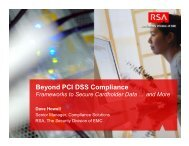 Beyond PCI DSS Compliance