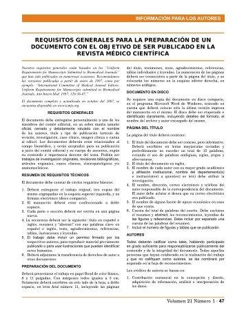 REQuISITOS GENERALES PARA LA PREPARACIÓN ... - Imbiomed