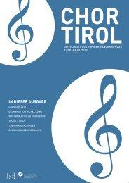 4. Ausgabe - Oktober 2013 - Tiroler Sängerbund