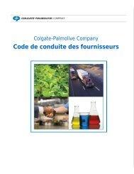 Code de conduite des fournisseurs - Colgate