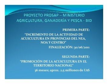 Proyecto PROSAP y MINAGRI - Ministerio de Agricultura, Ganadería ...