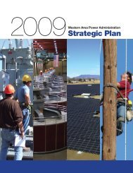 Strategic Plan - Western Area Power Administration