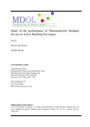 Study of the performance of Thermoelectric Modules for use in ...