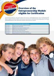 Overview of the Entrepreneurship Module eligible for Certification