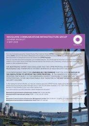 MCG Scheme Booklet - Macquarie