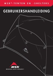 GEBRUIKERSHANDLEIDING - Cascade Designs, Inc.