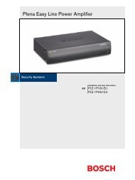 Plena Easy Line Power Amplifier - Bosch Security Systems