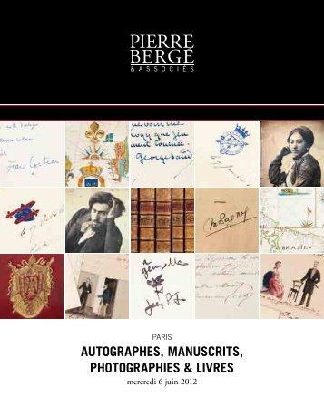 autographes, manuscrits, photographies & livres - Bibliorare