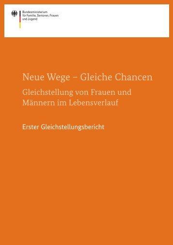 Neue Wege - Bundesministerium für Familie, Senioren, Frauen und ...