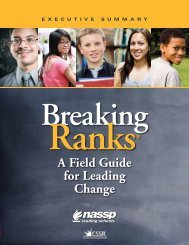 A Field Guide for Leading Change - National Association of ...