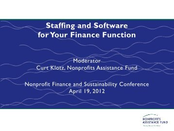 Staffing and Software for Your Finance Function - Minnesota Council ...