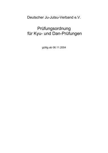 Prüfungsordnung für Kyu- und Dan-Prüfungen - tsv-weikersheim ...