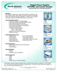 Rugged Power Supplies COTS/MIL and Custom Designs