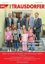 Wir Trausdorfer Juli 2011 - bei der SPÖ Trausdorf