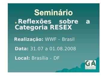 Comunidades da RESEX