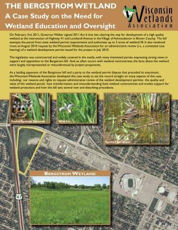 The BergsTrom WeTland - Wisconsin Wetlands Association