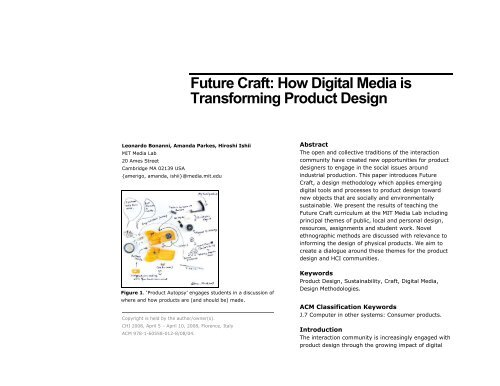 Future Craft: How Digital Media is Transforming Product ... - CHI 2008