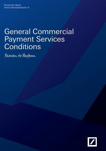 General Commercial Payment Services Conditions - Deutsche Bank