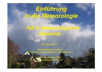 Meteorologisches Institut der Universität Bonn