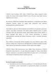 türkiye insan hakları stratejisi - Unesco