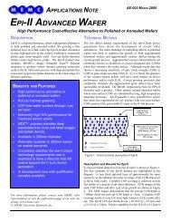 EPI-II ADVANCED WAFER - MEMC Electronic Materials, Inc.