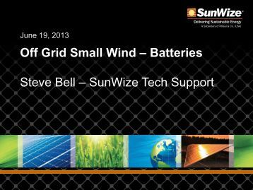 Battery Bank Design, Use, and Maintenance - Small Wind Conference