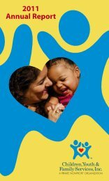 2011 Annual Report - Children, Youth and Family Services
